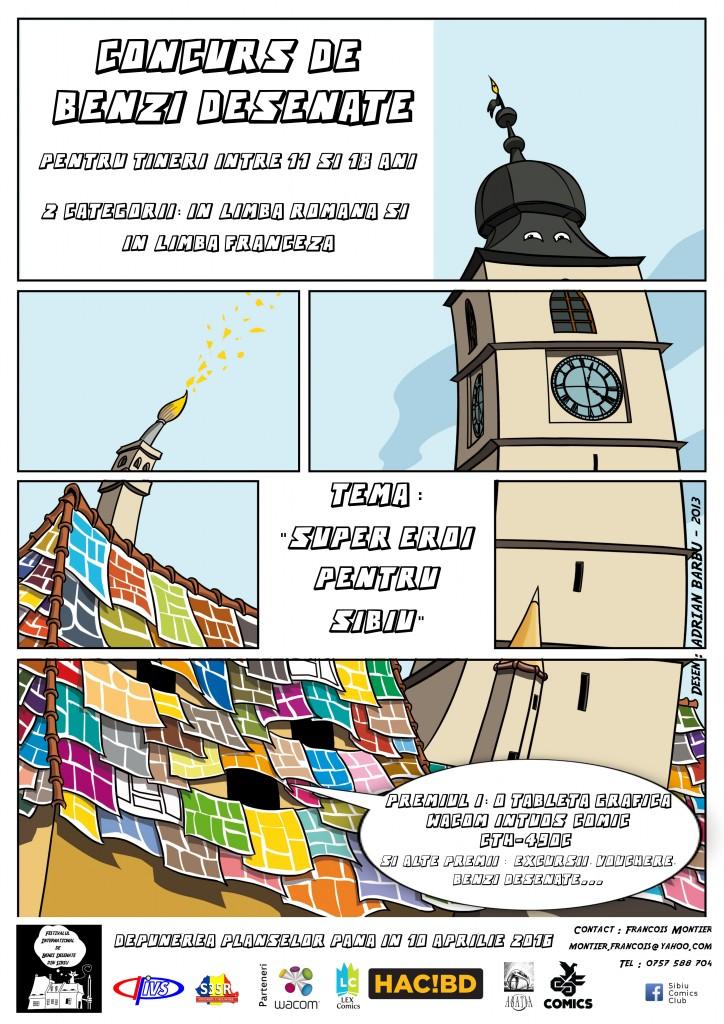 Afis-concurs benzi desenate benzi desenate Festivalul International de Benzi Desenate revine la Sibiu Afis concurs benzi desenate