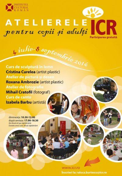 institutul cultural roman institutul cultural roman Institutul Cultural Roman, invitatie la creatie afis ateliere