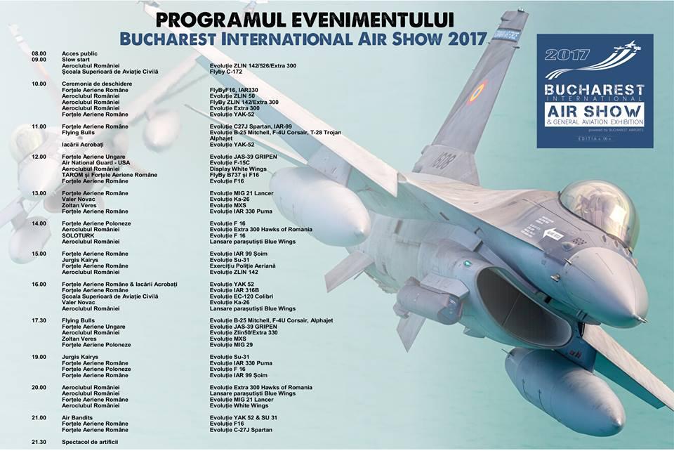 Astăzi începe BIAS 2017, cel mai mare show aerian din România program bias