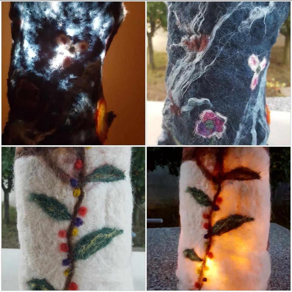 Liliana Dobre și minunile artei lânăritului Abajururi din lana