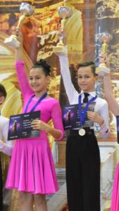 Andrei Ciobanu, micul mare dansator Andrei pe podium