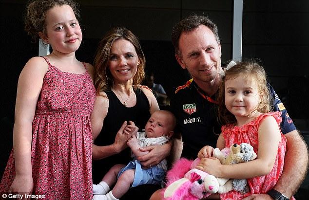 Geri Halliwell de la Spice Girls, mamă la 44 de ani Familia Geri si Christian Horner