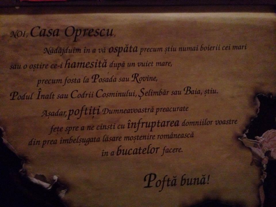 Casa Oprescu sau tradiția la ea acasă Meniu Text