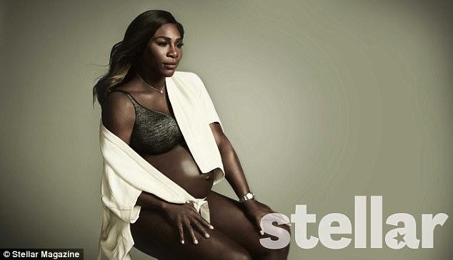 Serena Williams, gravidă și dezgolită pe coperta unei reviste Stellar Magazine
