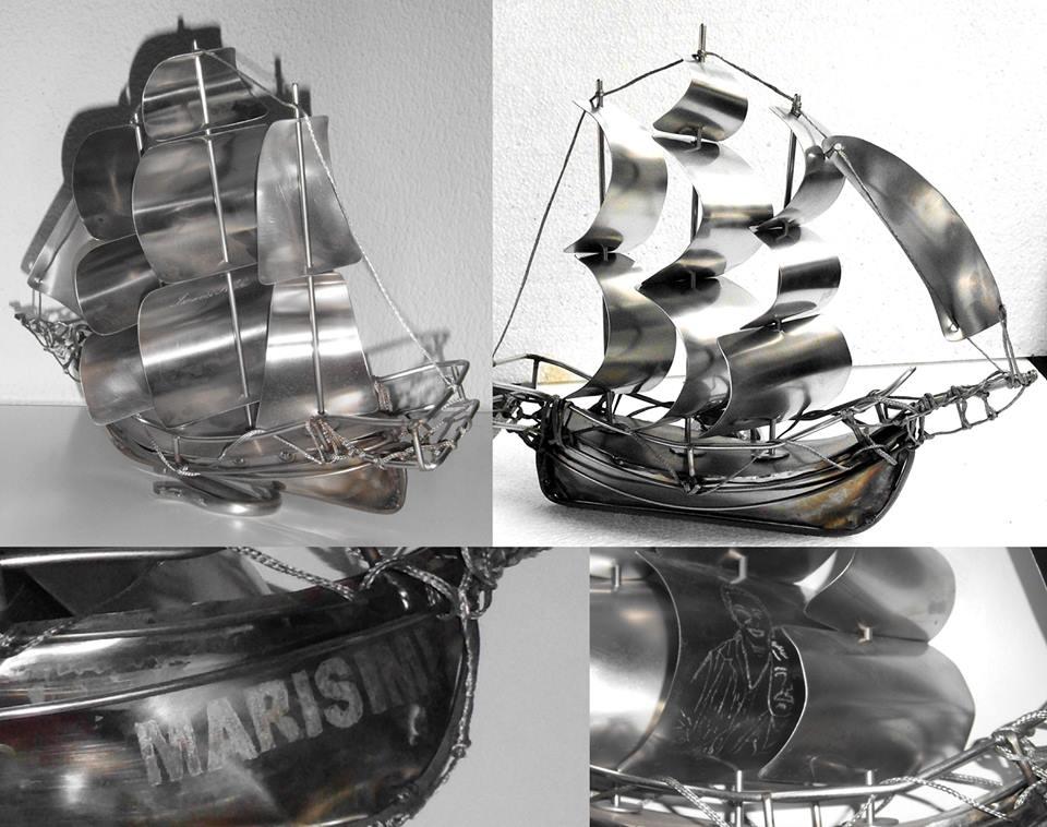 Nicolae Iancovici transformă deșeurile metalice în artă Corabii